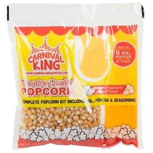 Pop Popcorn Kit Quality Great Tasting Butter Popcorn 48 Case 8 To 10 Oz Poppers