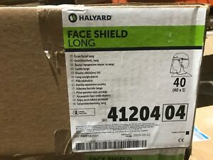 New Halyard Full Length Face Shield Clear 41204 Case Of 40