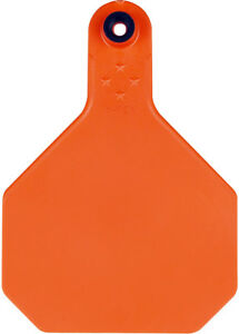 Y tex 4 Star Large Blank Cattle Tags 25 Count Orange