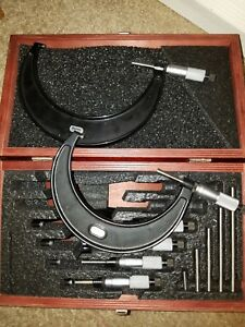 Starrett Micrometer Set 0 6 Inch Fowler Depth Mic Bundle