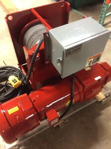 Thern Electric Winch 4ws6m12 Electric Hoist 460 Volt Or 230 Volt 5 16 Cable Dia