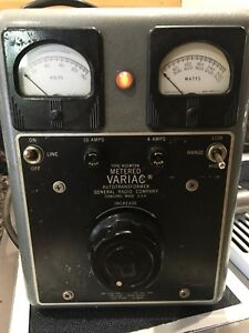 Used General Radio Type W10mt3w Metered Variac Autotransformer Tested