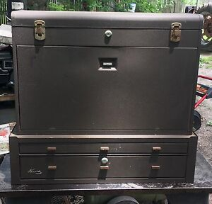 Kennedy 52611 11 drawer Machinists Chest W Mc 28 Riser Middle Cabinet Tool Box