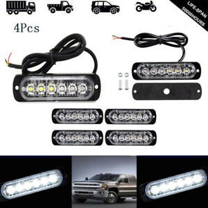 4x Hid Dash Strobe Lights Flash Emergency Warning Safety Bar For Car Truck Atv