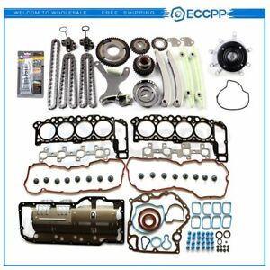 For Jeep Dodge Ram 1500 2004 07 4 7l Timing Chain Kit Head Gasket Set Water Pump