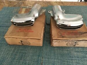 Nos Correct Pair Of Left And Right 1955 And1956 Mercury Exhaust Outlets Tips