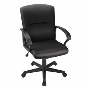 Brenton Studio Mid back Fabric Task Chair Black