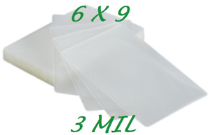 6 X 9 Laminating Laminator Pouches Sheets 100 Pk 3 Mil Half Letter Quality