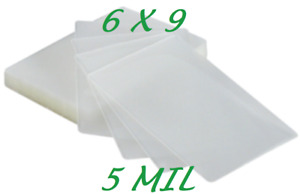 6 X 9 Laminating Laminator Pouches Sheets 500 5 Mil Half Letter Quality