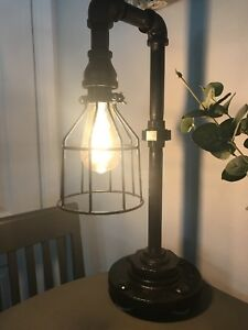 Industrial Black Iron Pipe Lamp 3 4 Custom Made Steam Punk Galvanized Diy