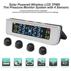 Car Auto Tpms Tire Tyre Pressure Monitor Alarm System With 4 External Sensor