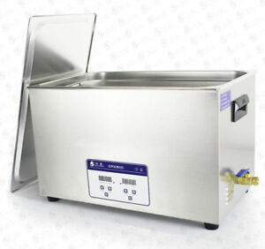 30l 220v Jp 100s Industrial Ultrasonic Cleaning Machine Hardware Parts Cleaner