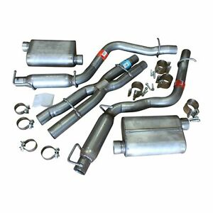 5 7l Dodge Challenger 2008 10 Cat Back Dual Exhaust Mopar Oem Dynomax Kit