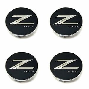 4 Zinik Wheel Center Hub Caps Black Chrome Logo Z30 cap For Z30 Z31 Z32 Z33 Z34