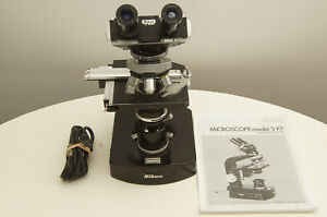 Nikon S kt Microscope With 4x 10x 40x 100x Objectives