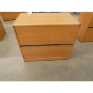 30 X 36 X 20 Brown Wood Legal File Cabinet 2 drawer Rounded Corners