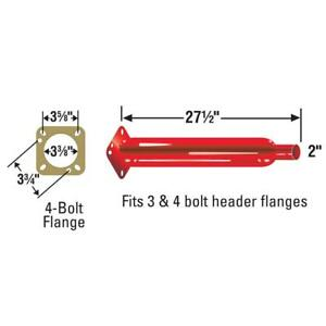 Cherry Bomb 87551cb Header Muffler Cherry Bomb Glasspack
