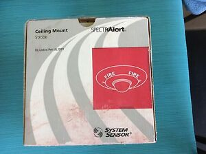 System Sensor Spectralert Ceiling Mount Strobe Sc2495 Two Units