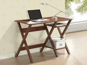 Modern Computer Or Laptop Desk Workstation With Side Shelves For Organizing