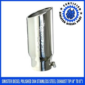 Sinister Diesel Polished 304 Stainless Steel Exhaust Tip 4 To 6
