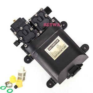 Double Head 100w Diaphragm Water Pump 12v Sprayer High Pressure Pump 0 85mpa