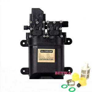 Automatic Double Head 100w Water Pump 12v 0 85mpa Electric Sprayer Pump 8l min