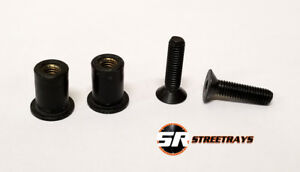 Sr License Plate Delete Replacement Hardware Bolt Amp Rubber Nuts Tapered Black