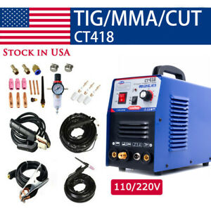 Ct312 Plasma Cutting Welder Machine 3in1 Cut tig mma Dc Dual Voltage 110 220v