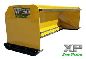 8 Xp30 Snow Pusher Boxes With Pullback Bar Skid Steer Bobcat Local Pick Up