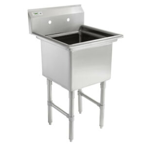 23 16 gauge Stainless Steel One Compartment Commercial Restaurant Mop Prep Sink