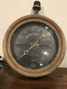 Vtg Tag Allis Chalmers Centigrade Gauge Upcycled Industrial Steampunk Brass
