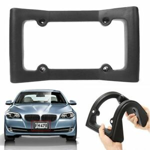 Car Auto Front Bumper Guard Eva License Plate Frame Tag Cover Protector Black Us