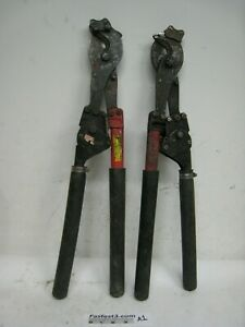 Hk Porter Ratchet Cable Cutter 8690fh Lot Of 2