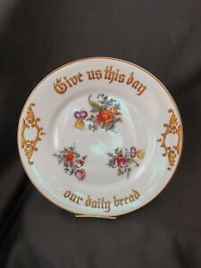 Z S Co Bavaria 9 3 4 Cabinet Collector Plate Give Us Daily Bread Bavaria