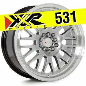 Xxr 531 17x8 4x100 4x114 3 25 Chromium Black Wheels Set Of 4