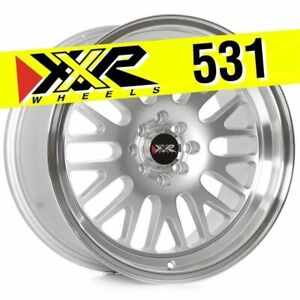 Xxr 531 17x9 5x100 5x114 3 35 Hyper Silver Wheels Set Of 4