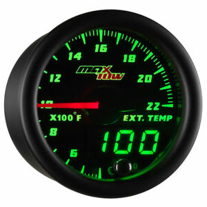 Maxtow 52mm Double Vision 2200 F Exhaust Gas Temp Egt Pyrometer Gauge Mt dv08