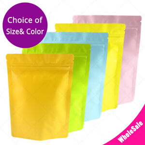 5x7in Multi Double sided Color Matte Aluminium Mylar Stand Up Zip Lock Bag M02
