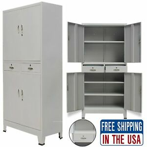 Home Office Filing Cabinet With 2 Drawers Metal File Storage Organizer Cupboard
