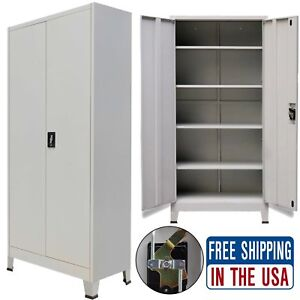Home Office Filing Cabinet Metal Steel File Storage Organizer Cupboard Furniture