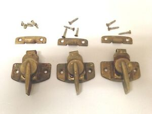3 Brass Window Sash Locks And Catches Architectural Salvage From Old Church