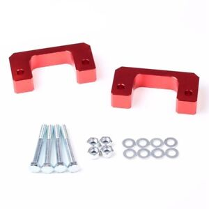 1 Front Leveling Lift Kit Fit Chevy Silverado 2007 2017 Gmc Sierra 2wd 4wd Red