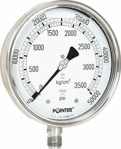 High Pressure Gauge Dual Scale 0 3500 Bar 0 50000 Psi Ideal For Common Rail New