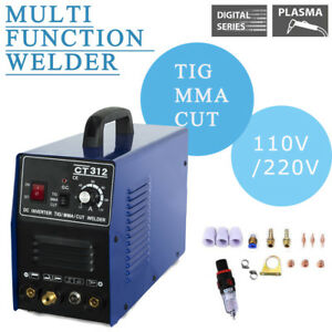 Household Plasma Cutting Welder Machine 3in1cut tig mma Dc Dual Voltage 110 220v