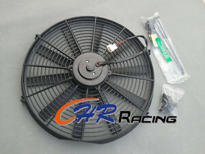 16 12v Universal Electric Radiator Racing Cooling Fan Mounting Kit 16 Inch