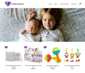 Established Baby Shop Turnkey Website Business For Sale profitable Dropshipping