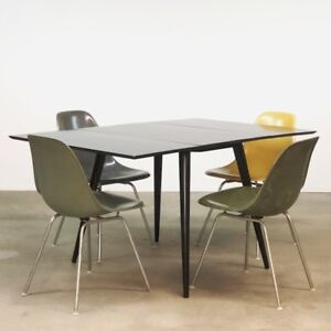 Paul Mccobb Planner Group Drop Leaf Black Dining Table Mid Cent