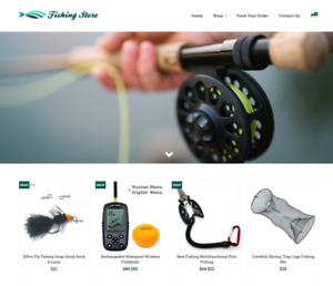 Fishing Store Turnkey Website Business For Sale Profitable Dropshipping