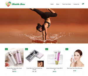 Health Store Turnkey Website Business For Sale Profitable Dropshipping
