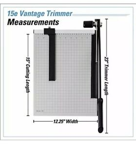 15e Vantage Paper Trimmer 15 Cut Length Sheet Automatic Clamp Adjustable